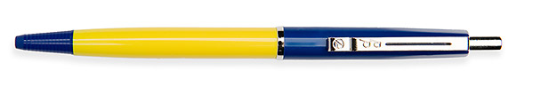 Budget Pen Donkerblauw & Geel